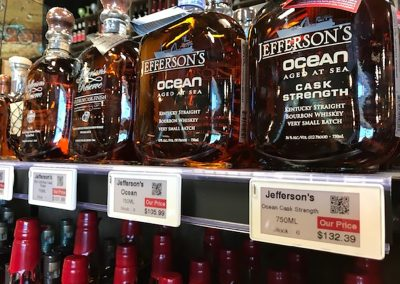 Digital Labels in Liquor Department