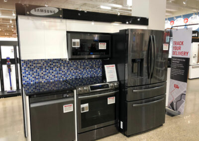 Samsung Appliance Set with Electronic Shelf Labels